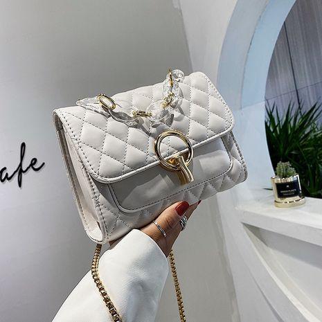 Nouveau petit sac nouvelle mode treillis petite chaîne parfumée sac oblique petit sac carré sac à bandoulière en gros nihaojewelry NHJZ233868's discount tags