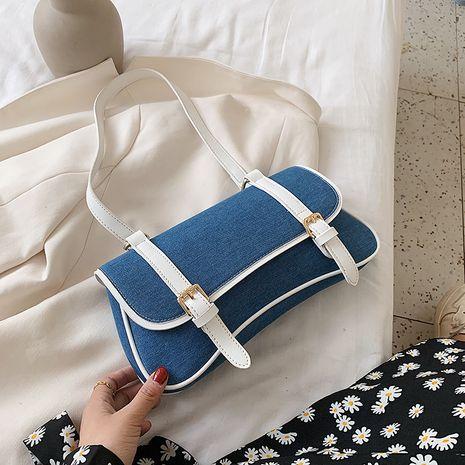 Été petit sac nouvelle vague mode hit couleur sac à bandoulière style coréen texture sac à main en gros nihaojewelry NHJZ233877's discount tags