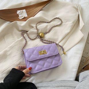 Bolso pequeño new wave fashion messenger bag popular cadena de diamantes hombro pequeño bolso cuadrado al por mayor nihaojewelry NHJZ233879's discount tags