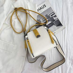 Bolso de cubo portátil new wave primavera y verano bolso de mensajero de hombro de moda coreana bolso pequeño de cuero suave al por mayor nihaojewelry NHJZ233880's discount tags