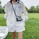 Korean portable cow texture shoulder small square bag American retro crossbody bag wholesale nihaojewelry NHJZ233889