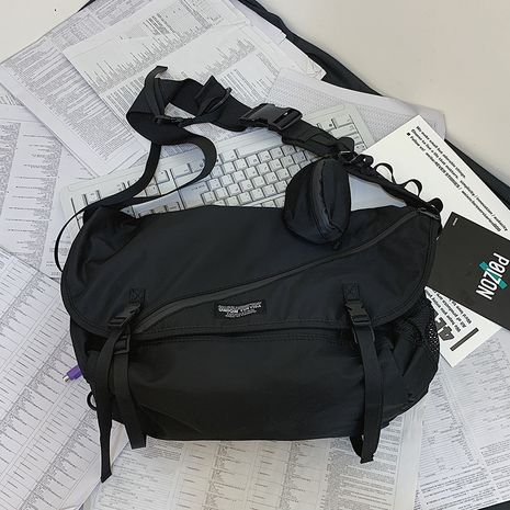 función de bolsa de mensajero hip-hop tendencia bolsa de mensajero bolso de hombro de línea oscura venta al por mayor nihaojewelry NHJZ233890's discount tags