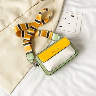 Bolso pequeño de las señoras del verano new wave fashion bolso de crossbody de banda ancha de moda solo hombro hit color pequeño bolso cuadrado al por mayor nihaojewelry NHJZ233895's discount tags