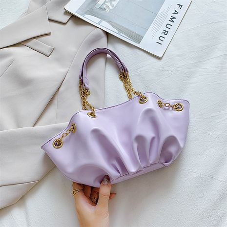 Bag new commuter chain bag Korean Messenger shoulder bag cloud bag texture shoulder bag wholesale nihaojewelry NHXC233898's discount tags