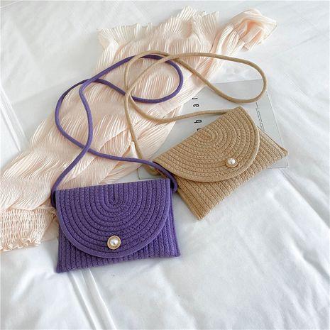 Sac tissé nouveau coréen du petit sac carré paille tissé sac à bandoulière décontracté en gros nihaojewelry NHXC233918's discount tags