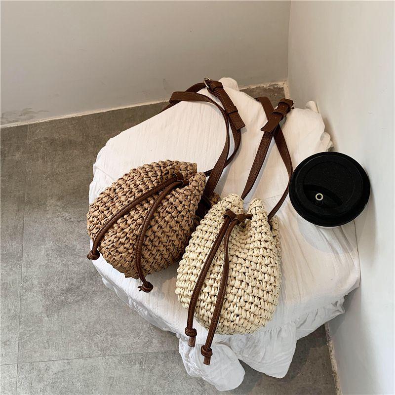 Summer mini bag new trendy fashion woven shoulder bucket bag wild lady crossbody bag wholesale nihaojewelry NHXC233923