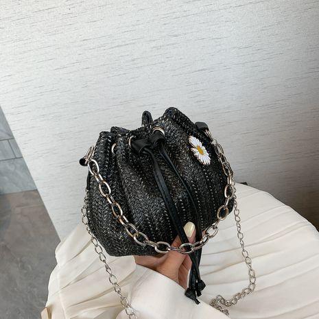 Mini sac populaire nouvelle vague mode coréenne petite chaîne de marguerite seau épaule sac de messager en gros nihaojewelry NHXC233935's discount tags
