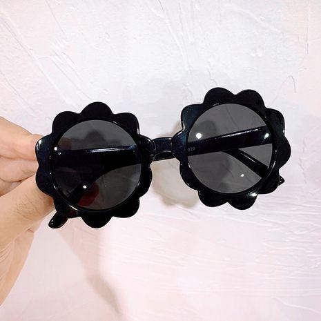 Cabeza de león flor pétalo gafas nuevo sol flor gafas de sol lindo bebé gafas de sol marco redondo venta al por mayor nihaojewelry NHKD233607's discount tags