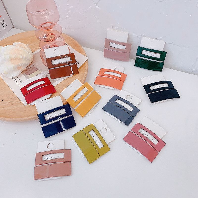 Koreas new candy color fashion acrylic plastic parts set hairpin subnet bangs clip wholesale nihaojewelry NHSM233622