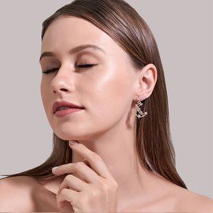 Korea new sweet diamond moon earrings simple leaves Lolita exquisite fairy earrings wholesale nihaojewelry NHDP233633's discount tags
