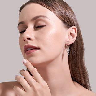 Korea selling super fairy sweet long pentagram earrings stars tassel crystal zircon earrings wholesale nihaojewelry NHDP233645's discount tags