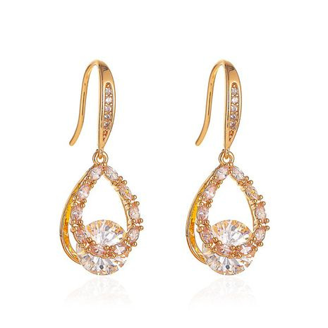 Korean new fashion earrings Baroque zircon long drop earrings wholesale nihaojewelry NHDP233647's discount tags