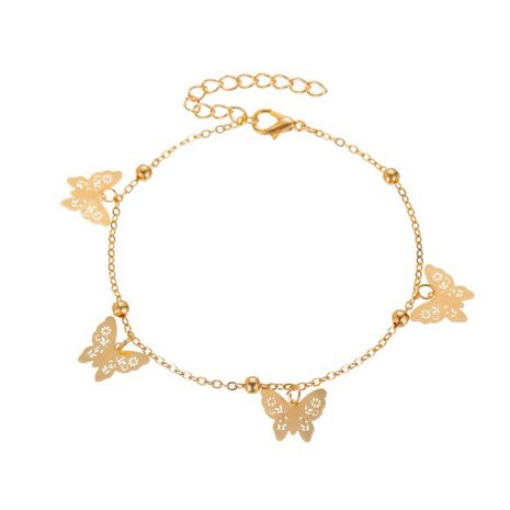 hot selling footwear hollow butterfly anklet sexy simple footwear foot chain wholesale nihaojewelry NHDP233649's discount tags