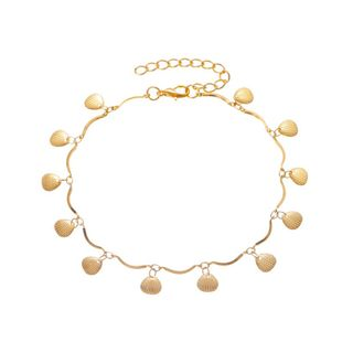 Korean new summer beach style metal shell pendant anklet fashion simple tassel ladies foot chain wholesale nihaojewelry NHDP233655's discount tags