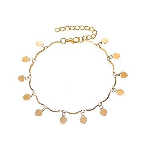 Été nouveau gland amour bracelet de cheville simple multicouche amour pendentif pied chaîne vente chaude en gros nihaojewelry NHDP233656's discount tags
