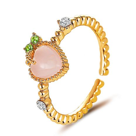 Sweet pink peach ring summer loving opal finger ring wholesale nihaojewelry NHDP233661's discount tags