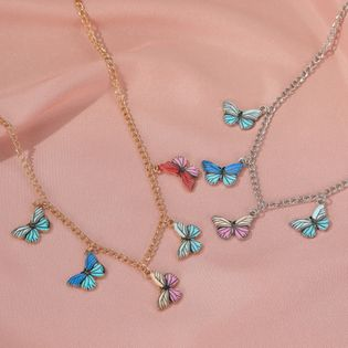 color dream butterfly necklace hot sale fashion retro choker clavicle chain wholesale nihaojewelry NHDP233660