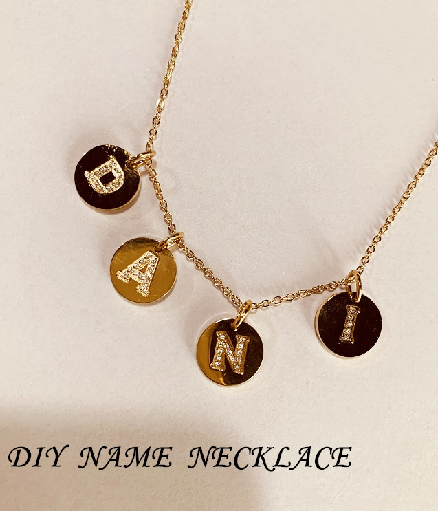 DIY jewelry 316L titanium steel diamond 14K gold plated 26 English alphabet accessories wholesale nihaojewelry  NHTF226602