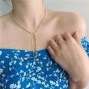 Retro round bead necklace long tassel round bead chain clavicle chain fashionable choker wholesale nihaojewelry NHYQ233951