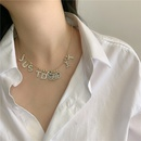 Korean necklace round bead chain alphabet smiley face microset pendant clavicle chain choker necklace wholesale nihaojewelry NHYQ233953