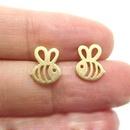 hot sale bee earrings alloy electroplating hollow bee shape earrings ear needle insect earrings wholesale nihaojewelry NHMO233960