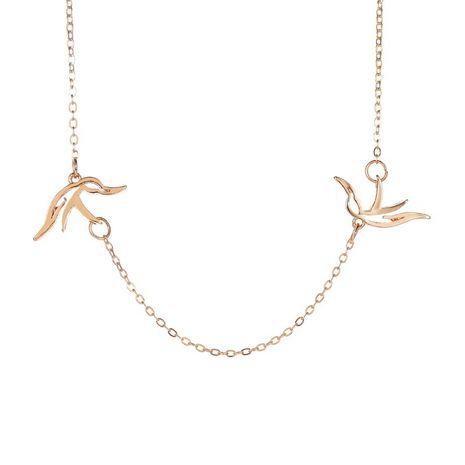 nouveau collier creux pigeon de paix chaîne de clavicule creux simple collier en gros nihaojewelry NHMO233974's discount tags