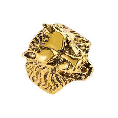 nuevo anillo exagerado retro cabeza de lobo anillo dominante hombre dedo índice anillo abierto venta al por mayor nihaojewelry NHMO233983's discount tags