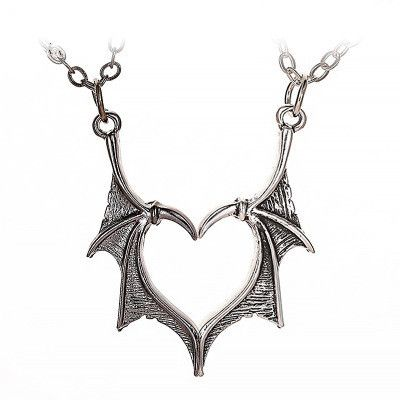new Gothic retro simple metal wings necklace couple love necklace wings necklace wholesale nihaojewelry NHMO233985's discount tags