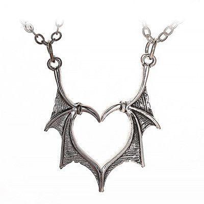 nouveau gothique rétro simple métal ailes collier couple amour collier ailes collier en gros nihaojewelry NHMO233985's discount tags