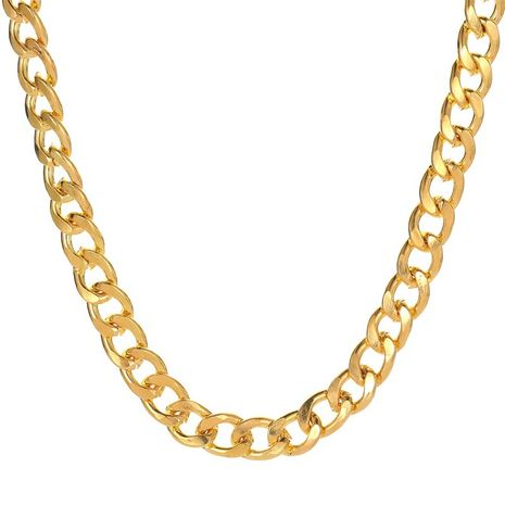 rue hip-hop style chaîne de cou tendance collier mode simple chaîne épaisse collier chaîne de clavicule en gros nihaojewelry NHMO233991's discount tags