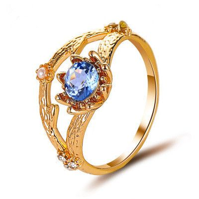 new ring style pop pearl diamond ladies ring retro branch flower ring wholesale nihaojewelry NHMO233995's discount tags
