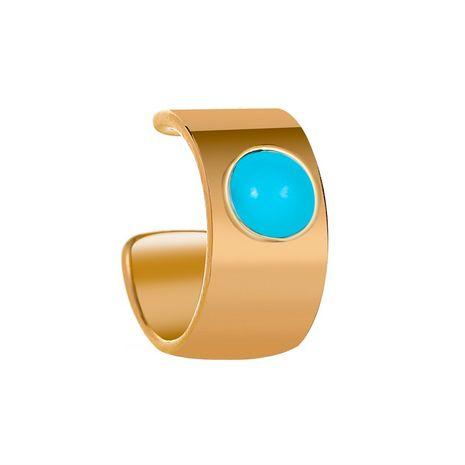 new fashion wide turquoise ear clip u-shaped ear clip no pierced earrings wholesale nihaojewelry NHMO234015's discount tags