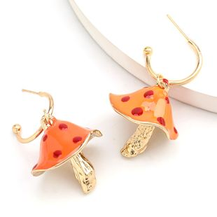 Korean Sen Department Creative Alloy Dripping Mushroom Korean Earrings Girl Girl Heart Cute Ear Hook earrings wholesale nihaojewelry NHJE234039's discount tags