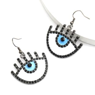 Creative fashion alloy dripping oil diamond eyes ear hook earrings trend earrings wholesale nihaojewelry NHJE234043's discount tags