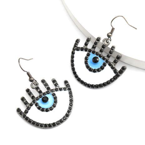 Creative fashion alloy dripping oil diamond eyes ear hook earrings trend earrings wholesale nihaojewelry NHJE234043's discount tags