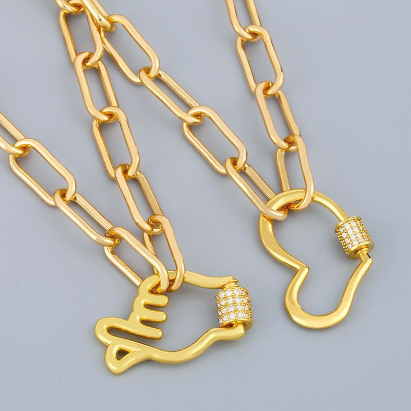 fashion jewelry best selling thick chain necklace creative retro punk style short clavicle chain wholesale nihaojewelry NHAS234054