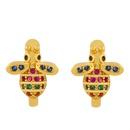 hot selling diamond earrings girls pierced ears cute bee earrings wholesale nihaojewelry NHAS234062