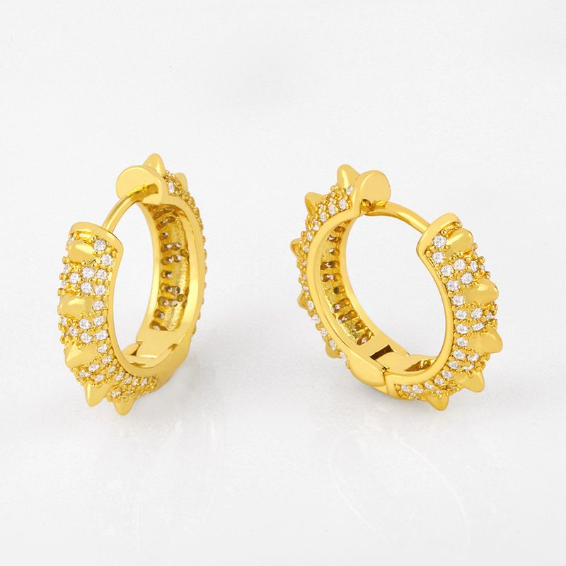 Micro-inlaid earrings accessories original diamond pierced earrings boutique earrings jewelry wholesale nihaojewelry NHAS234065