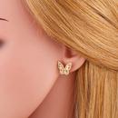 joyera de moda pendientes coreanos pendientes de mariposa pendientes simples de moda al por mayor nihaojewelry NHAS234072