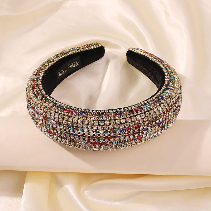 hot sale Baroque full diamond four-color luxury hair band headband catwalk palace hair band wholesale nihaojewelry NHMD234077