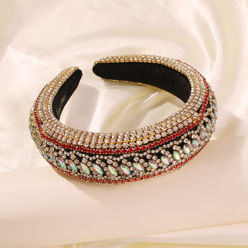 fashion new hair accessories Baroque full diamond color headband gorgeous headband wholesale nihaojewelry NHMD234087