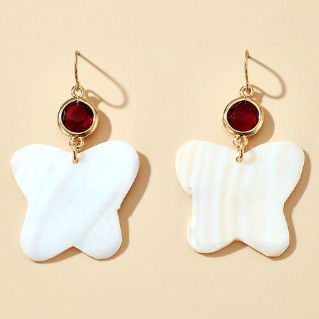 nouveaux bijoux boucles d'oreilles simples coquille papillon boucles d'oreilles en gros nihaojewelry NHGY234100's discount tags