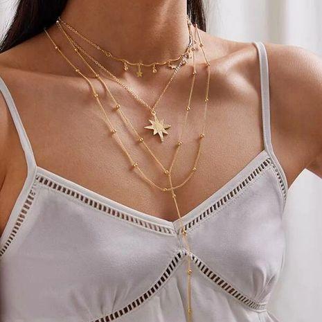nouveau produit mode étoile étoile multicouche collier diamant étoile à cinq branches collier à quatre couches en gros nihaojewelry NHGY234103's discount tags