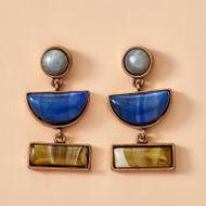 new jewelry fashion rectangular resin earrings geometric exaggerated semi-circular earrings wholesale nihaojewelry NHGY234110