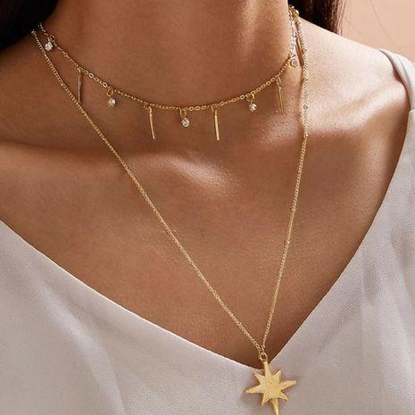 bijoux de mode créatif collier multicouche avec diamants barre verticale chaîne de clavicule en gros nihaojewelry NHGY234123's discount tags