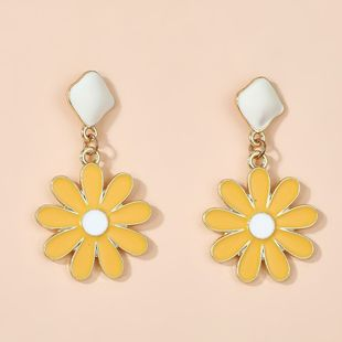 new 925 silver needle small daisy flower pendant earrings simple sweet cute earrings wholesale nihaojewelry NHGY234127's discount tags