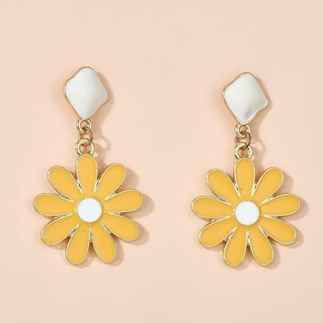 new 925 silver needle small daisy flower pendant earrings simple sweet cute earrings wholesale nihaojewelry NHGY234127's discount tags