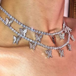fashion jewelry super fairy clavicle chain necklace simple single-layer diamond necklace wholesale nihaojewelry NHNZ234130's discount tags