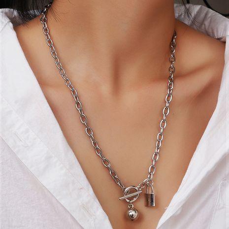 collier de verrouillage de bijoux femmes hip-hop hommes et femmes OT boucle collier en gros nihaojewelry NHNZ234139's discount tags