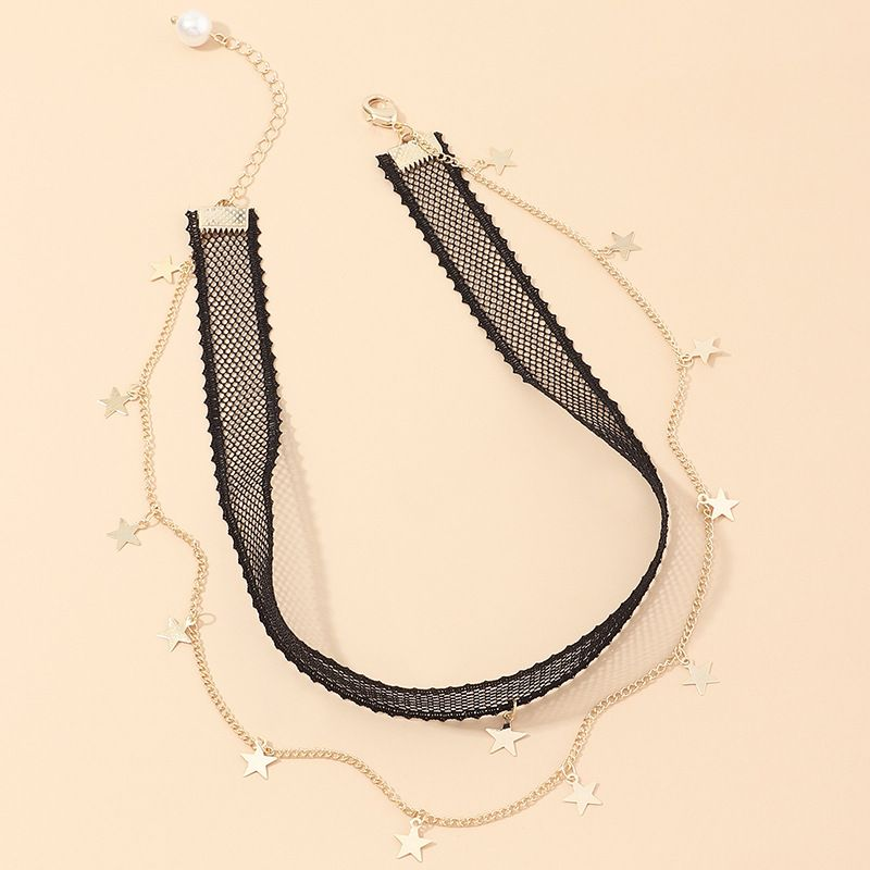 jewelry trend cool girl choker neck chain star necklace wholesale nihaojewelry NHNZ234140